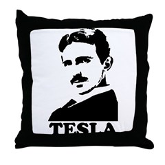 Tesla Throw Pillow