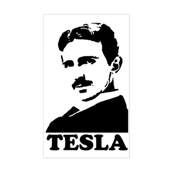 Tesla Rectangle Sticker | Gifts For A Geek | Geek T-Shirts