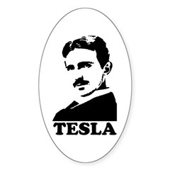 Tesla Oval Sticker