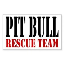 PitBull Rescue Team Rectangle Decal