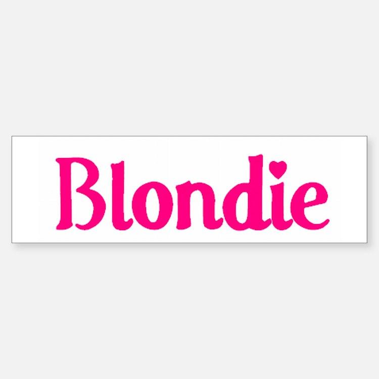 Pink/White 'Blondie' Bumper Bumper Bumper Sticker