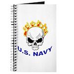 U.S. Navy Skull on Fire Journal