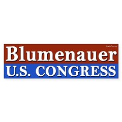 Blumenauer for Congress bumper sticker