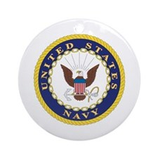 United States Navy Emblem Keepsake (Round)
