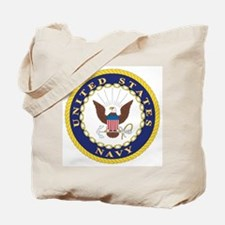 United States Navy Emblem Tote Bag