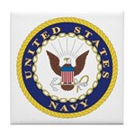 United States Navy Emblem Tile Coaster