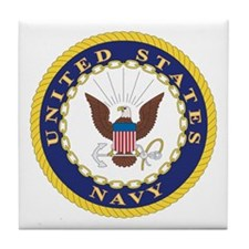 United States Navy Emblem Tile Coaster