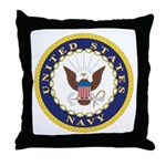 United States Navy Emblem Throw Pillow