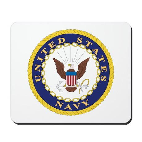 United States Navy Emblem Mousepad