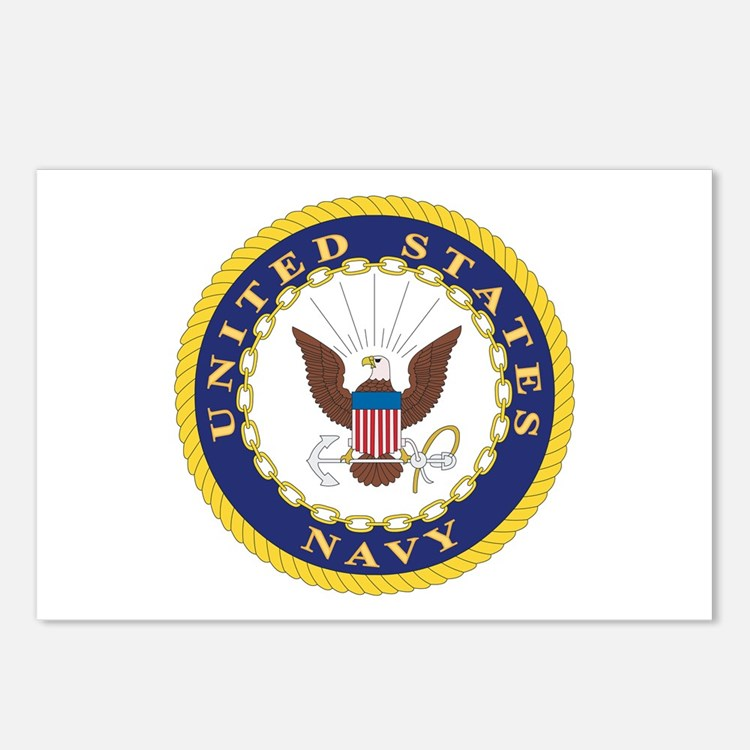 United States Navy Emblem Postcards (Package of 8)