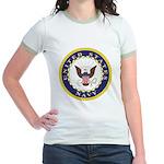 United States Navy Emblem (Front) Jr. Ringer T-Shi