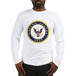 United States Navy Emblem Long Sleeve T-Shirt
