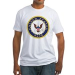 United States Navy Emblem Fitted T-Shirt