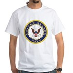 United States Navy Emblem (Front) White T-Shirt