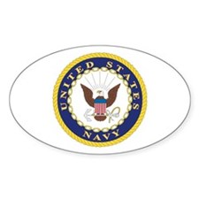 United States Navy Emblem Oval Decal