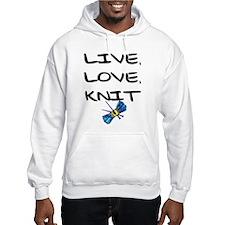 """Live, Love, Knit"" Hoodie"