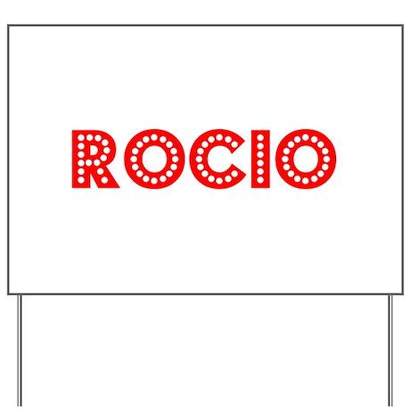 Retro Rocio (Red) Yard Sign