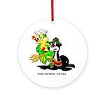 US Navy Freddy & Sammy Keepsake (Round)