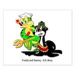 US Navy Freddy & Sammy Small Poster