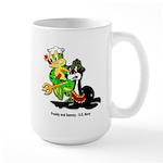 US Navy Freddy & Sammy Large Mug