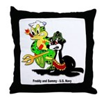 US Navy Freddy & Sammy Throw Pillow