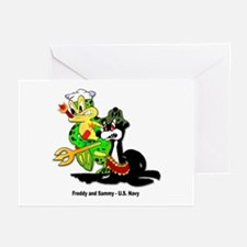 US Navy Freddy & Sammy Greeting Cards (Package of