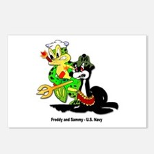 US Navy Freddy & Sammy Postcards (Package of 8)
