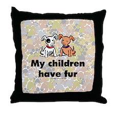 Furkids (dogs) Throw Pillow
