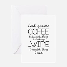 Lord, give me coffee Greeting Cards