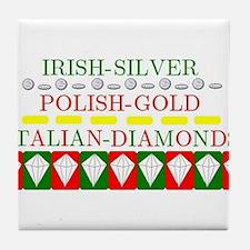 Italian Diamonds Tile Coaster