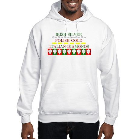 Italian Diamonds Hooded Sweatshirt