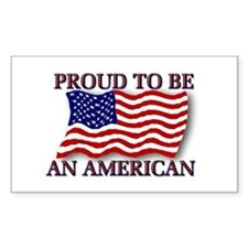 Proud to be an American Rectangle Decal