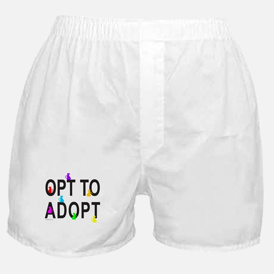 OPT TO ADOPT A CAT Boxer Shorts