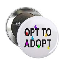 """OPT TO ADOPT A CAT 2.25"""" Button (10 pack)"""
