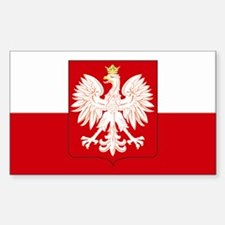 Poland w/ coat of arms Rectangle Stickers