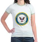 Naval Reserve (Front) Jr. Ringer T-Shirt