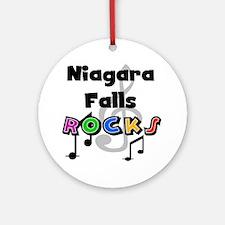Niagara Falls Rocks Ornament (Round)