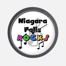 Niagara Falls Rocks Wall Clock