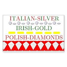Polish Diamonds Rectangle Decal
