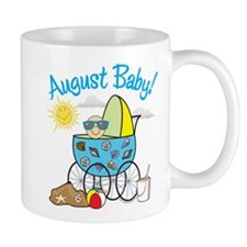 AUGUST BABY! (in stroller) Small Mugs