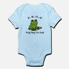 FROG Fully Rely On God Infant Bodysuit