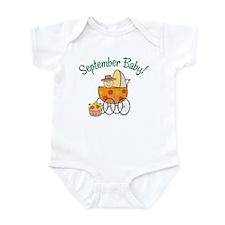 SEPTEMBER BABY! (in stroller) Infant Bodysuit