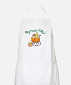 SEPTEMBER BABY! (in stroller) BBQ Apron