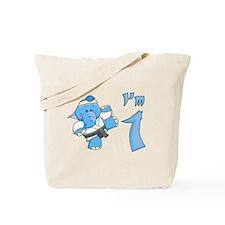 Elephant Karate First Birthday Tote Bag