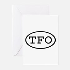 TFO Oval Greeting Cards (Pk of 20)