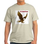 U.S. Armed Forces Eagle (Front) Ash Grey T-Shirt