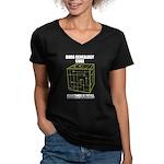 Borg Genealogy Cube Women's V-Neck Dark T-Shirt