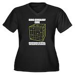 Borg Genealogy Cube Women's Plus Size V-Neck Dark