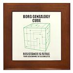 Borg Genealogy Cube Framed Tile