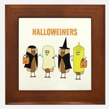 Halloweiners Framed Tile